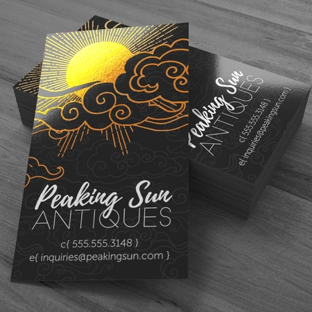 Metallic Business Cards Full Color Foil Cards Uprinting